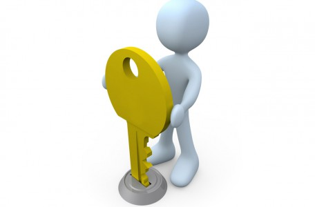 Computer generated image - Key in Keyhole.